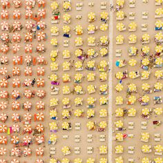 Aerial shots of Italy's coastline reveal the symmetry, pattern and colour of beach life | Creative Boom