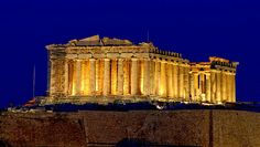 Parthenon in Athens Greece, one of the most famous buildings in the world.