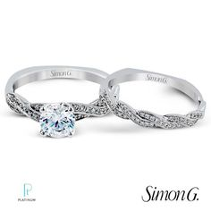 @simong Wedding ring and band set #engaged #diamondsdirect