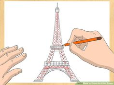 How to Draw the Eiffel Tower. The Eiffel Tower is one of the most recognizable landmarks in Paris, France. While it may seem like a complex piece of architecture to draw, you can easily sketch it out with a bit of practice. Eiffel Tower Drawing Easy, Eiffel Tower Painting, Grand Tour, Pencil Art Drawings, Easy Drawings, Drawing Sketches, Eiffel Tower Photography, Tower In Paris, Paris Tour