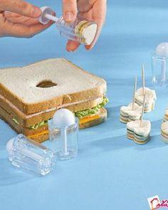 So cute sandwich appetizer.:
