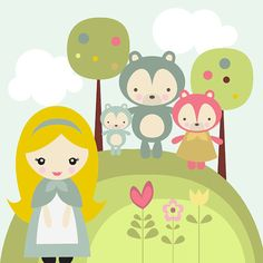 Goldilocks and the Three Bears Digital Clipart - Great for Scrapbooking, Card Making and General Paper Crafts