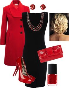 I just love red and black. So fabulously dramatic!
