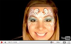 Swan Face Painting Design