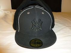 NEW New York Yankees New Era Cap 59FIFTY Dog Ear Fitted Baseball Hat (SIZE  7.5) c754afc8555e