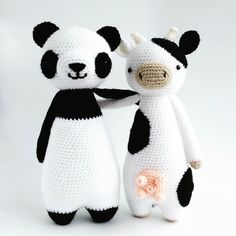 littlebearcrochets:: Stylish in black and white Panda pattern is available in my…