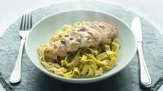 Oppskrift på Kylling med pasta og pesto