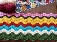 Ripples afghan - Best pattern I've found, *very* easy using only chain & treble stitch #DIY #craft #crochet #afghan