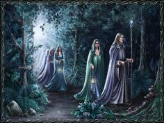 But the Sindar had the fairer voices and were more skilled in music, save only Maglor son of Fëanor, and they loved the woods and the riversides; and some of the Grey-elves still wandered far and wide without settled abode, and they sang as they went. ~ The Silmarillion, Chapter 13 (Elves in the Forest on alphacoders)