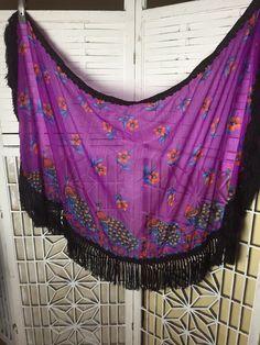 SALE - 1970's Vintage Peacock Shawl - gypsy - boho - festival - at TroppoBella on Etsy https://www.etsy.com/listing/241748468/sale-vintage-peacock-shawl-ooak-shawl #festivalshawl #bohoshawl #vogueteam #troppobella