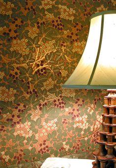 Raspberry Bramble wallpaper from our Morris Tradition collection / Bradbury Craftsman Wallpaper, Decoration, Art Decor, Art Nouveau, Hallway Wallpaper, Arts And Crafts Interiors, Designer Wallpaper, Wallpaper Designs, Victorian Wallpaper