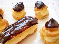 Profiteroles de crema, un postre muy socorrido y facil de hacer, se hacen con masa choux, una masa muy versatil sirve tanto para rellenos dulces o salados