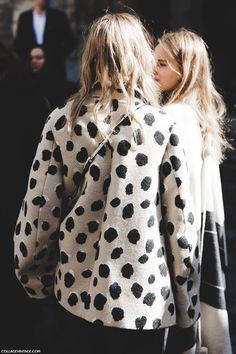 casaco de poá