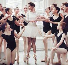 Misty with JKO students for Teen Vogue. Ballet