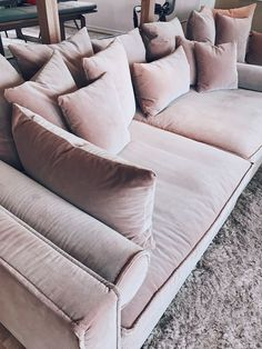 Love how simple and cosy this sofa is. My Living Room, Home And Living, Living Room Furniture, Living Room Decor, Home Design Decor, Interior Design Living Room, Living Room Designs, Home Decor, Deep Couch