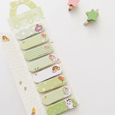 Lovely Days Cute Animal Sticky Note Stick Marker Set (Green Bunny) by twinklejujushop on Etsy https://www.etsy.com/listing/261131598/lovely-days-cute-animal-sticky-note