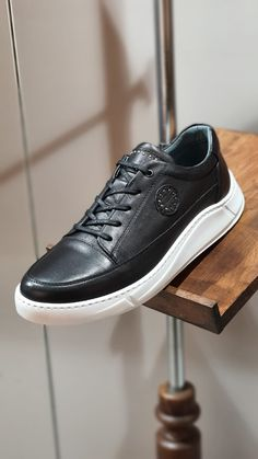Collection: Spring – Summer 2020  Product: Sneakers  Color code: Black  Shoes sole: Rubber  Inner Lining: Calf Skin Lining  Shoes Material: 100% Leather  Heel Height: 3cm  Available Size: 40-41-42-43-44  Package Include: Shoes  Gifts: Branded Dust Bag and Box, Shoehorn, Shoeshine, Babet Socks Black Sneakers, Black Shoes, Sneakers Nike, Slim Fit Tuxedo, Exclusive Shoes, Oxfords, Leather Heels, Derby, Code Black