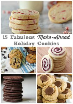 15 Fabulous Make-Ahead Holiday Cookies via thefrugalfoodiema. - the cookie dough and/or finished cookies for these recipes freeze beautifully for the holidays christmas baking easy Best Holiday Cookies, Holiday Cookie Recipes, Xmas Cookies, Holiday Baking, Christmas Baking, Summer Cookies, Baby Cookies, Italian Christmas, Heart Cookies
