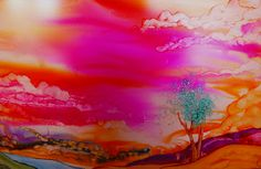 Painting with Alcohol Inks: Alcohol Ink Painting