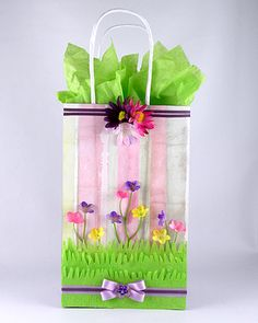 A flower garden gift bag is perfect for spring.