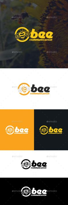 Bee Communication  Logo Design Template Vector #logotype Download it here: http://graphicriver.net/item/bee-communication-logo-template/529772?s_rank=145?ref=nexion