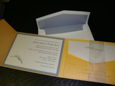 Wedding - Yellow Topaz invitations with Silver