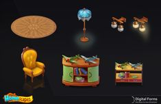 ArtStation - Objects for Homescapes, Digital Forms