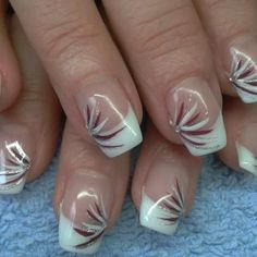 Nail art Christmas - the festive spirit on the nails. Over 70 creative ideas and tutorials - My Nails Nail Tip Designs, Fingernail Designs, French Nail Designs, Acrylic Nail Designs, French Manicure Nails, French Tip Nails, Gel Nails, Acrylic Nails, Nail Polish