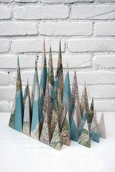 paperc-ut:    Louis Reith. best maps folding i've seen in awhile.  (via BOOOOOOOM!)