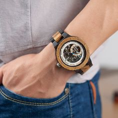 Personalized Customiz Watch Men BOBO BIRD Wood Automatic Watches Relogio Masculino OEM Anniversary Gifts for Him Free Engraving Gift Items For Men, Watch Gift Box, Anniversary Gifts For Him, Bracelet Clasps, Love To Shop, Mechanical Watch, Automatic Watch, Wood Watch, Fathers Day Gifts