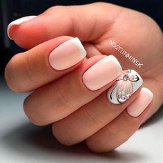 2017 - best nail trends to try маникюр uñas francesas, uñas con mariposas и Best Nail Art Designs, Colorful Nail Designs, Pretty Nail Art, Cool Nail Art, Spring Nails, Summer Nails, French Nails, Nail Lacquer, Nail Pictures