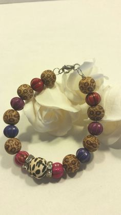 Animal print bracelet by SnoBirdBeads on Etsy