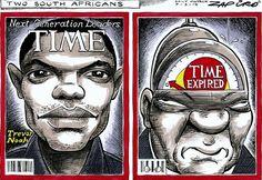 About Time - Zapiro Jacob Zuma, Trevor Noah, African, Baseball Cards, Cartoons, March, Politics, Cartoon, Cartoon Movies