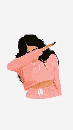 girl, iphone wallpaper, wallpaper, girl drawing, dab Source by oh_sierra Tumblr Wallpaper, Iphone Wallpaper Drawing, Girl Wallpaper, Screen Wallpaper, Iphone Drawing, Black Girl Art, Art Girl, Black Art, Pink Black