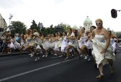 Serbia's annual running of the brides #notjoking