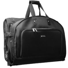 Carry-on Luggage Collections | WallyBags 52inch Framed TriFold Garment Bag with Shoulder Strap and Multiple Accessory Pockets * Learn more by visiting the image link.(It is Amazon affiliate link) #15likes