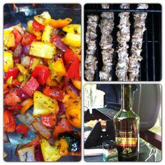 Grilled Chicken/Organic Tri-Color Pepper Kabobs  www.foodnetworkinconcert.com