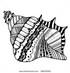 Find Zentangle Stylized Shell Hand Drawn Aquatic stock images in HD and millions of other royalty-free stock photos, illustrations and vectors in the Shutterstock collection. Zentangle Drawings, Zentangle Patterns, Art Drawings Sketches, Doodles Zentangles, Cup Of Tea Tattoo, Sea Turtle Wallpaper, Seashell Tattoos, Seashell Art, Starfish