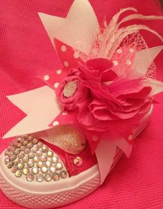 Kennedy will need some of these! Bling Shoes, Bling Bling, Stylish Baby Girls, Baby Bling, Pageants, Valentine Day Love, Future Children, Hairbows, My Little Girl