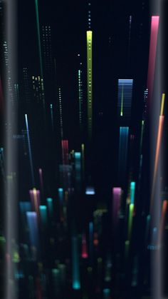 Blurry City at Night Wallpaper