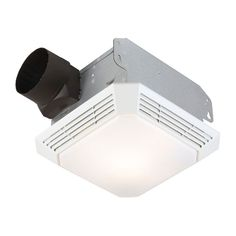 Broan White Bathroom Fan at Lowe's. The Broan 70 CFM Bathroom Fan with Light performs double duty as both a ventilation fan and a light source, moving air at 70 CFM (cubic feet per Bathroom Heater, Mold In Bathroom, Bathroom Fans, Bathroom Ideas, Bathroom Interior, Bathrooms, Bathroom Fan Light, White Bathroom, Mold Prevention