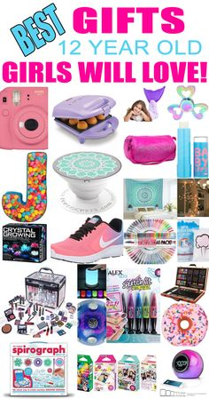 8a0c6a2dc9c0 Gifts 12 Year Old Girls! Best gift ideas and suggestions for 12 yr old girls.  Top presents for a girl on her twelfth birthday or Christmas! Coolest gifts  ...