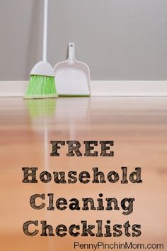 Cleaning the house is never fun and if you are not even sure where to start, it can be overwhelming.  Use one of our FREE printable checklists to help you tackle your cleaning whether it is your regular routine or time for spring cleaning.  We've got the help YOU need!