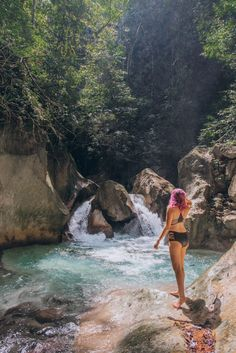 La Plaza is a hidden waterfall and aqua bowl in the Southwest, Dominican Republic. You can only find it by driving west through Barahona and hiking along the Bahoruco River. It may take you awhile to find it, but it's so worth it!