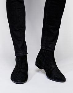8cd628fa3563 ASOS Chelsea Boots in Suede U.S size 9 Flat Boots, Wedge Boots, Knee High