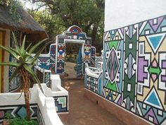 Awesome Ndebele art on a house in South Africa... so vibrant!