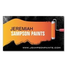 Painter business card template crafts diy pinterest card painter business card flashek Choice Image