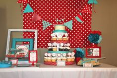 "Photo 1 of 15: little red wagon / Birthday ""Ryan's Red Wagon 1st Birthday"" 