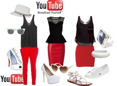 Fashion inspired by social media sites.
