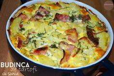 budinca-de-cartofi Hawaiian Pizza, Quiche, Drink, Breakfast, Food, Mariana, Kitchens, Salads, Morning Coffee